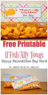 fish valentines happy valentines day card printable
