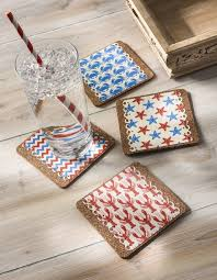 beverage coasters decoupage nautical drink coasters mod podge rocks