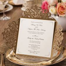 Card Inserts For Invitations Amazon Com Wishmade Wedding Invitations Cards Gold 50pcs Invite