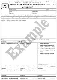 non conformance report form template elcosh inspecting occupational safety and health in the