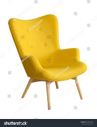 Yellow Chair Yellow Modern Chair Isolated On White Stock Photo 326495300