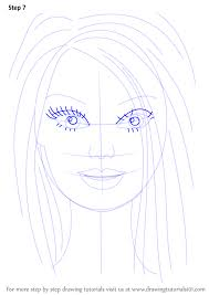 learn draw barbie face barbie step step drawing