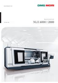 nlx 6000 2000 dmg mori pdf catalogue technical