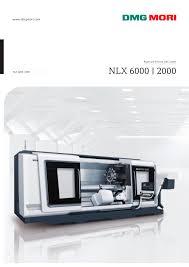 nlx 6000 2000 dmg mori pdf catalogue technical
