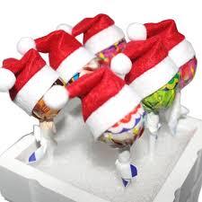 essential home decor 6 pcs merry christmas hats christmas hats little lollipop creative