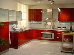 Kitchen Cabinets Style Red Painted Kitchen Cabinets