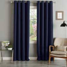 Grommet Top Blackout Curtains Home Grommet Top Thermal Insulated 96 Inch Blackout Curtain