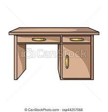 arriere plan bureau animé style illustration bureau symbole isolé bitmap
