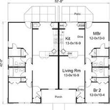 Multi Unit House Plans Duplex Plan 1196 Floor Plan House Plans Pinterest Duplex