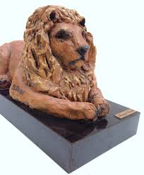 lion statue home decor resting lion sculpture margit elsohn 1911 2007 new york