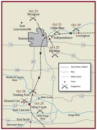 Kansas Map Mine Creek Battle October 25 1864 Kansapedia Kansas