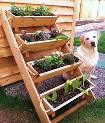 creative diy outdoor vertical garden planter boxes with 4 boxes