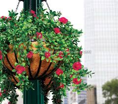 outdoor artificial flowers hanging baskets artificial flowers decor