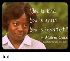 Kind Meme - you is kind you is smart you is important aibileen clap truf meme
