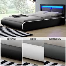Schlafzimmer Komplett Ohne Zinsen Led Polsterbett Kunstlederbett Ehebett Bett Doppelbett Designbett