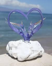 dolphin love wedding cake topper acrylic by artzengraving