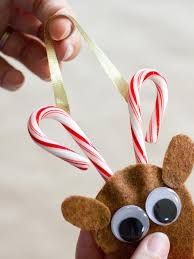 how to make a candy cane reindeer ornament hgtv