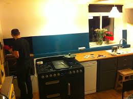 cuisine bleu petrole cuisine bleu petrole galerie inspirations et enchanteur peinture
