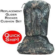 quick ship glider rocker cushion set mossy oak new breakup