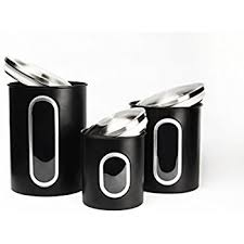 kitchen canisters stainless steel polder 3346 75 3 stainless steel window canister