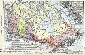 Map Of Colonies Dominion Of Canada
