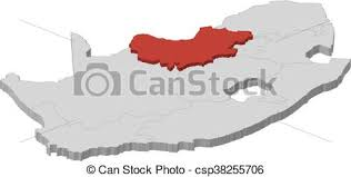3d africa map vector map south africa west 3d illustration map of vector