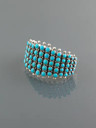 turquoise bracelet images Zuni style turquoise cuff bracelet don lucas jpg