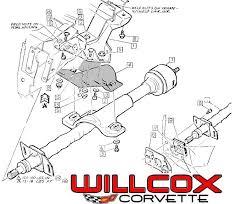 1968 corvette steering column 1968 corvette steering column mounting willcox corvette inc
