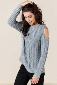 cold shoulder sweaters this cold shoulder sweater brings a sexiness to a