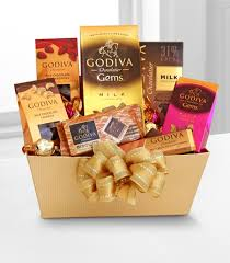 chocolate basket delivery godiva milk chocolate expressions birthday baskets gift