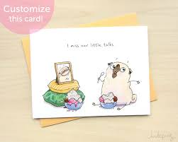 cards for sick friends now get well card pug get well soon card dog get well