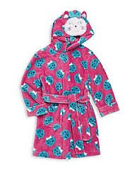 emoji robe petit lem girl s emoji cat hooded robe purple size products