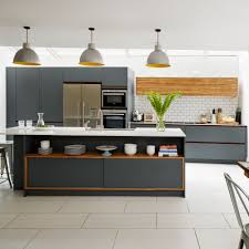 grey kitchen cupboards with black worktop kitchen worktop ideas to ensure your work surface is stylish