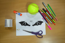 softball diy halloween bat wings chalktalksports