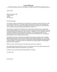 clinical research coordinator cover letter the letter sample