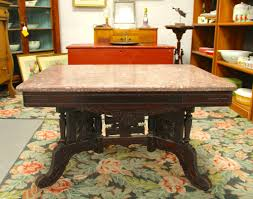 Victorian Coffee Table by Found In Ithaca Victorian Eastlake Marble Top Coffee Table Sold