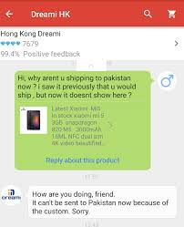 shipping to pakistan aliexpress stops shipping certain products to pakistan
