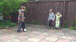 Kids Playing Backyard Football Family Football At The Backyard Stock Footage Video Getty Images