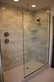 Bathroom Glass Shower The Doorless Glass Shower Doorless Glass Shower Marble Subway