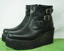 womens harley boots size 9 vintage 90s grunge biltrite boots size 8 f s us