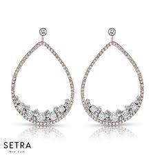 Designer Chandelier Earrings 14k Gold Diamonds Designer Chandelier Earring Setra