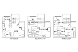 villa floor plan floor plans villas at babcock student housing san antonio tx