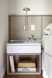 Bedroom Nightstand Ideas Contemporary Floating Nightstands Wooden Contemporary Nightstand