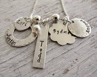 Personalized Family Necklace Personalized Family Jewelry Grandmother Necklace Mother Necklace