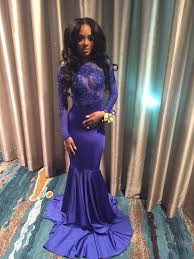 blue appliques open back mermaid prom dresses 2017