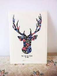 hand made fabric reindeer christmas card free p u0026p on luulla