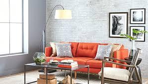 Orange Sofa Living Room Ideas Peaceful Orange Couches Living Room Kleer Flo