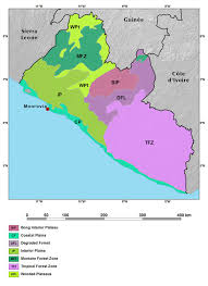 Map Of Western Africa by Ecoregions And Topography Of Liberia West Africa
