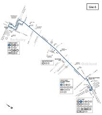 Bart Route Map by 6 Bus Route Ac Transit Sf Bay Transit