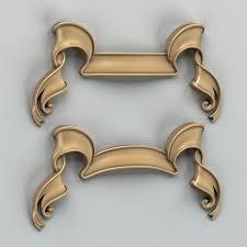 fronton decorative ribbon 3d cgtrader